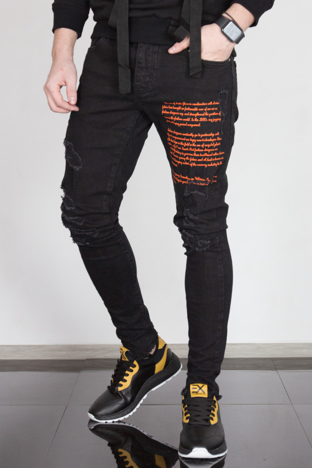 Pantaloni Slim Story Negru