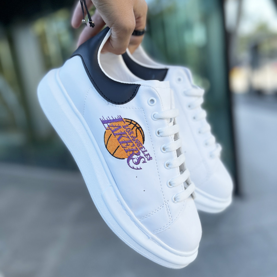 Sneakers Lakers Alb-Negru