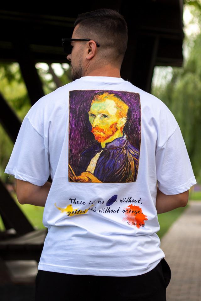 Tricou Oversized Van Gogh Alb
