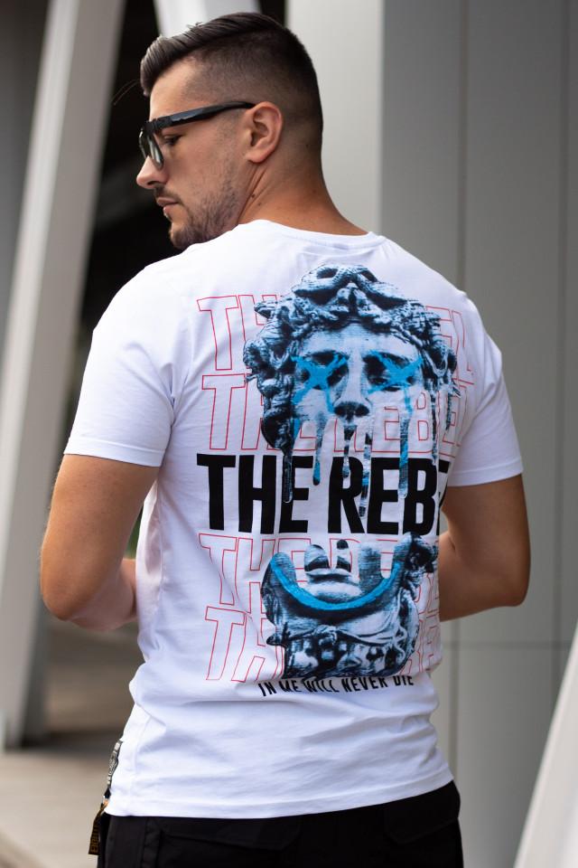 Tricou The Rebel Alb