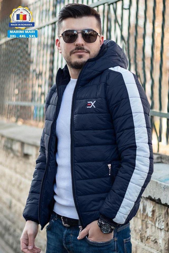 Geaca Exclusive Bleumarin - Alb