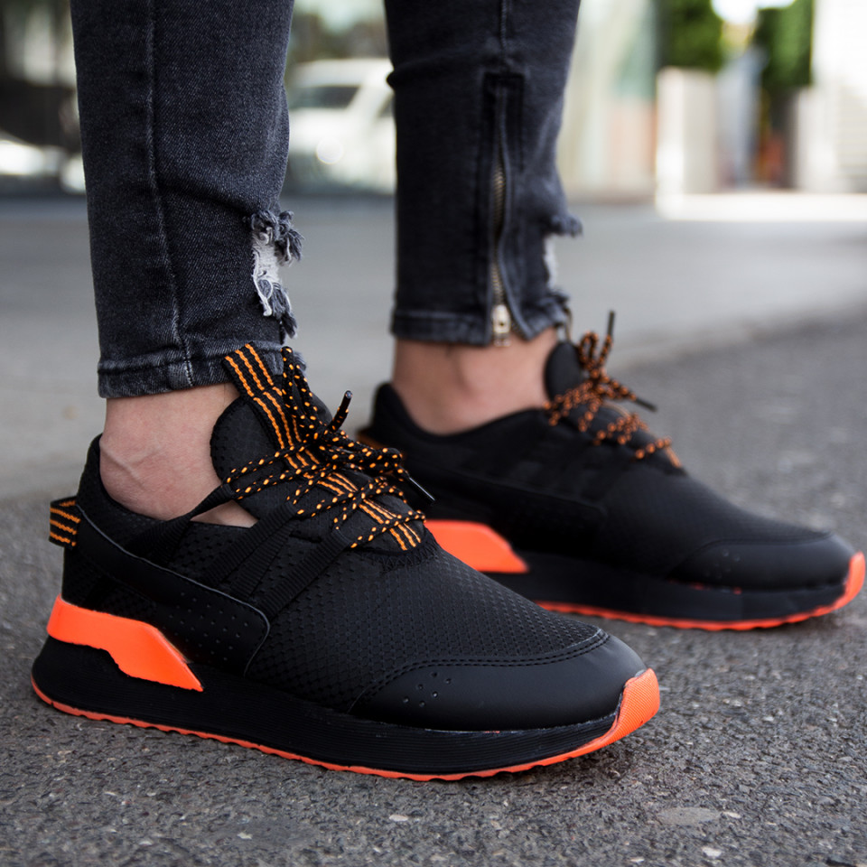 Adidasi Waterproof Negru-Orange