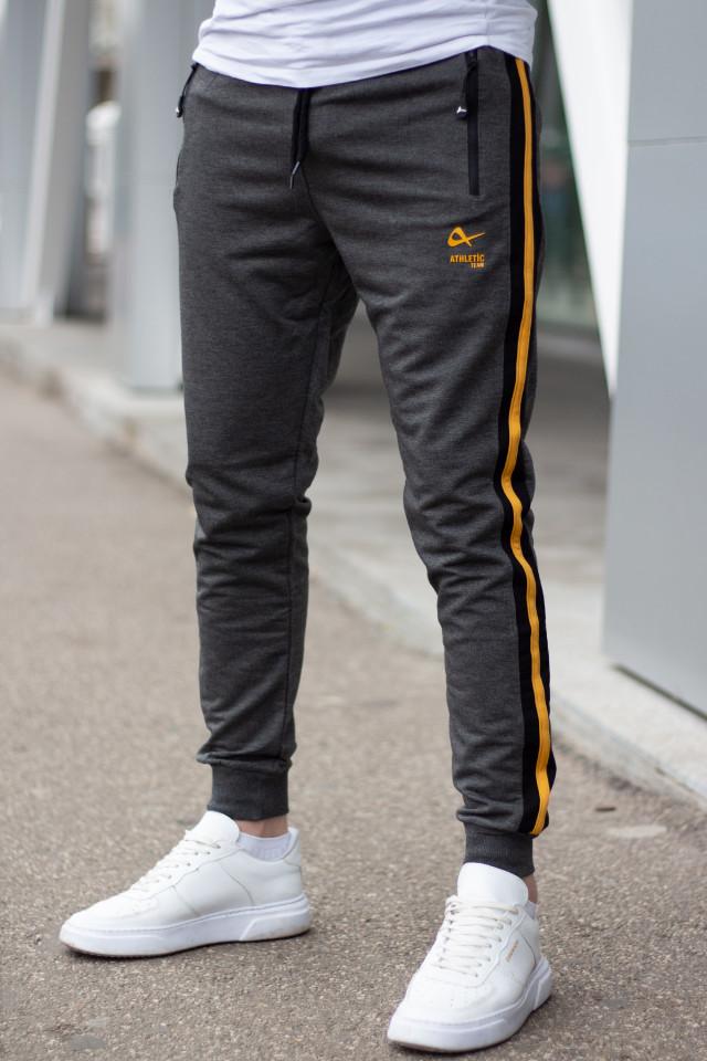 Pantaloni Bumbac ATH Gri Inchis