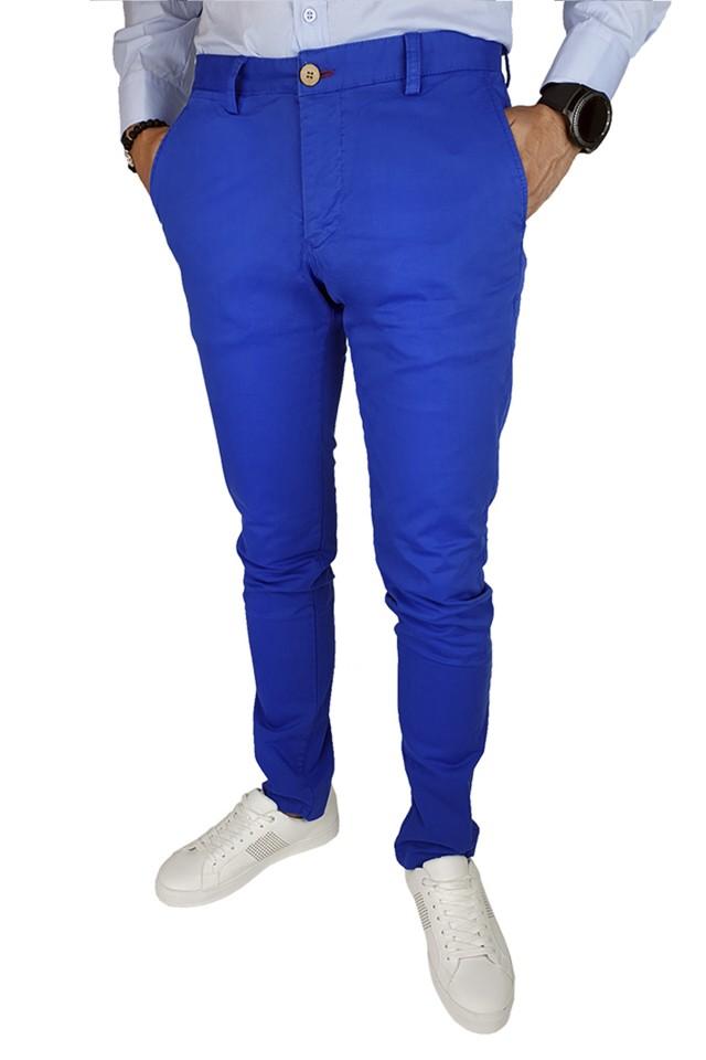 Pantaloni Casual Slim Albastrii
