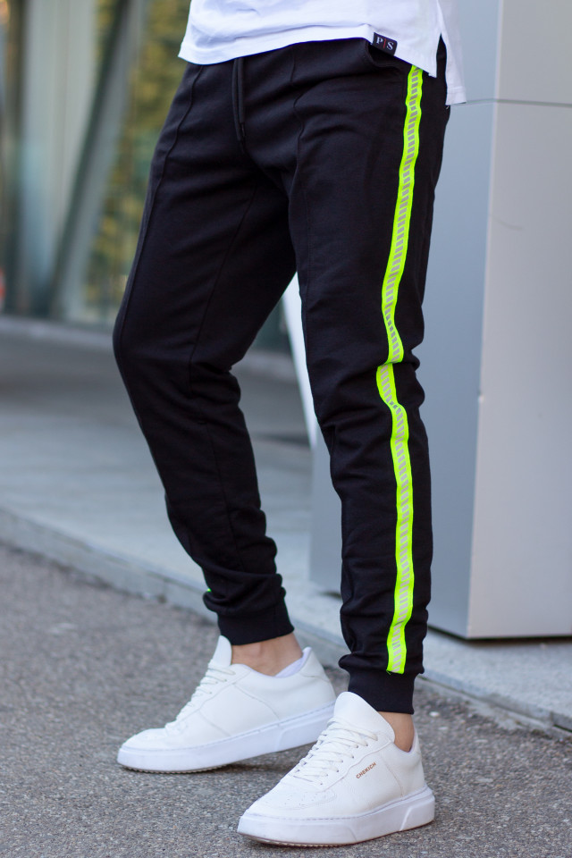 Pantaloni EX Reflector Negru-Verde
