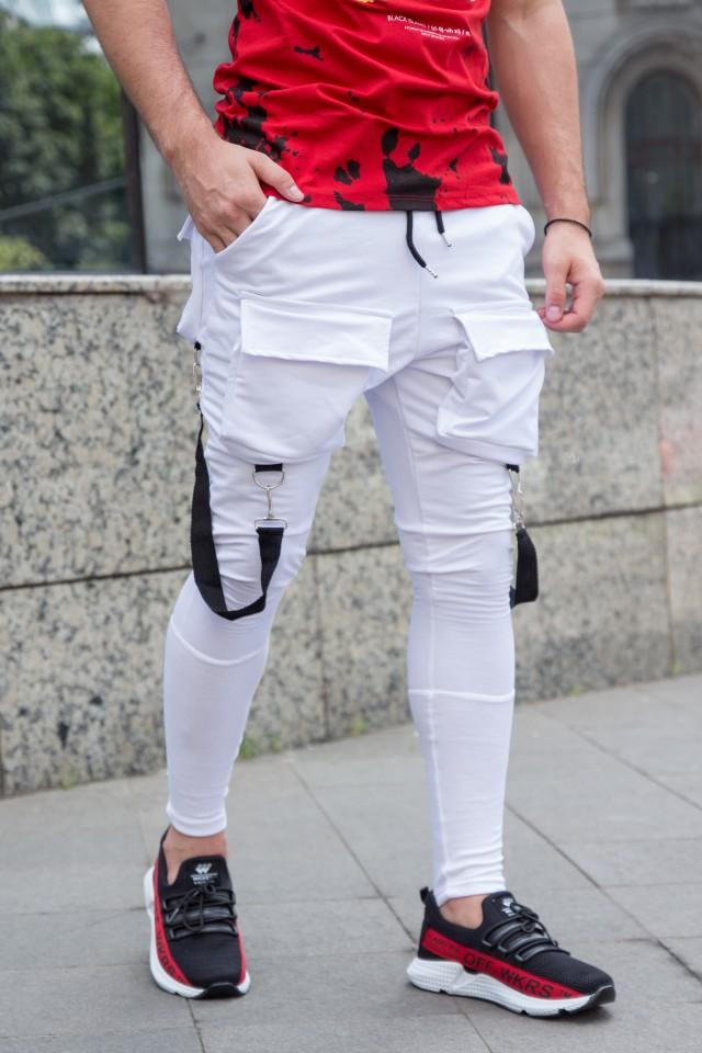 Pantaloni Exclusive cu semi-tur Alb EP2