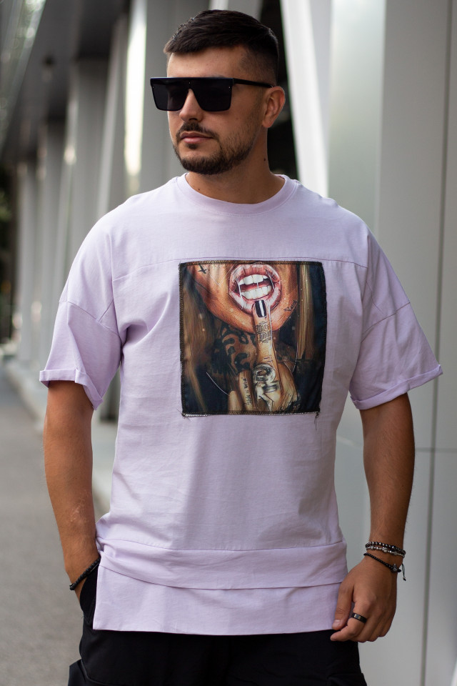 Tricou Oversized Tail Pale