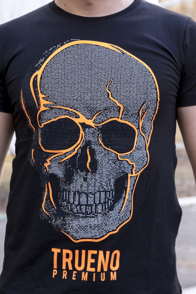 Tricou Trueno Orange Skull