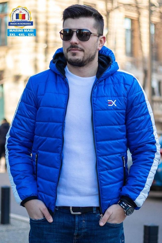 Geaca Exclusive Albastru - Alb
