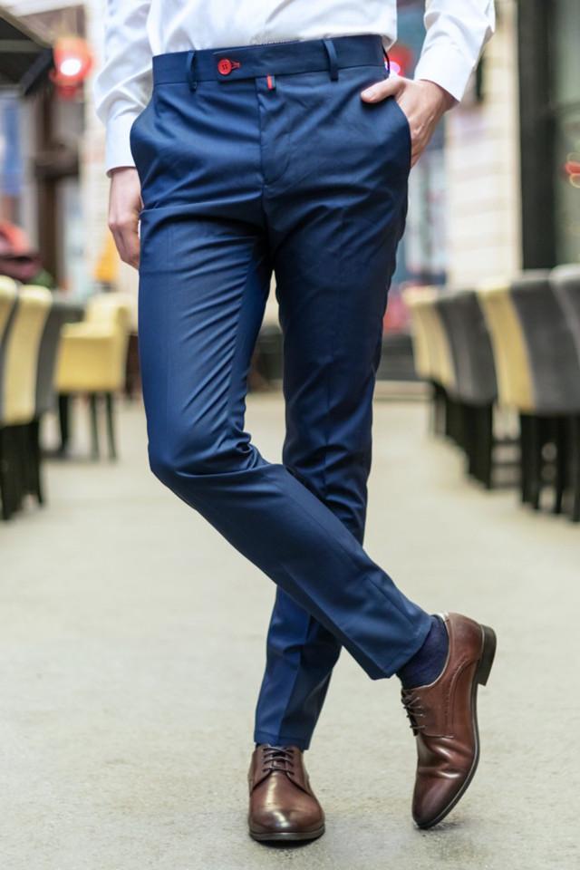 Pantaloni Eleganti Mansfield Albastru AS