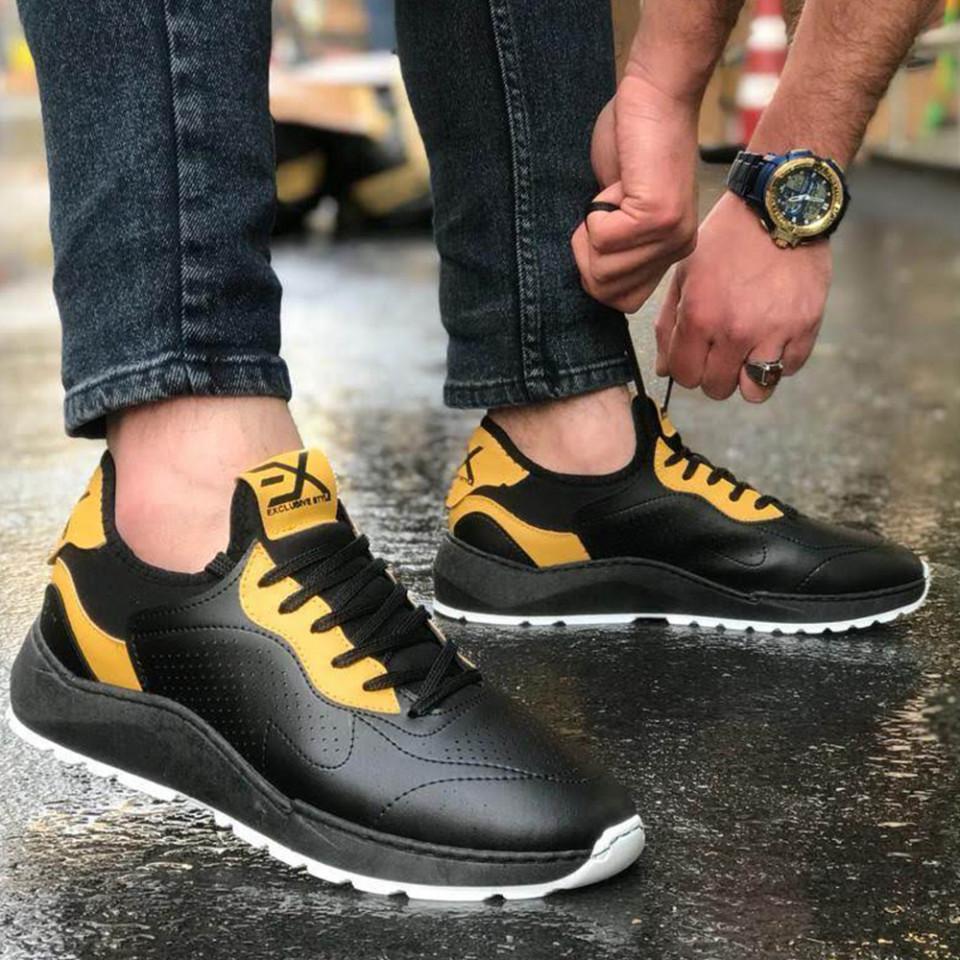Adidasi Exclusive Negru-Galben