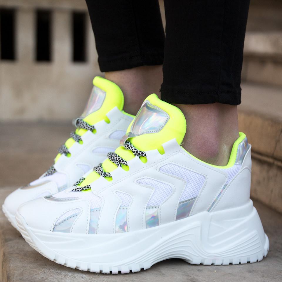 Adidasi MK Alb-Verde
