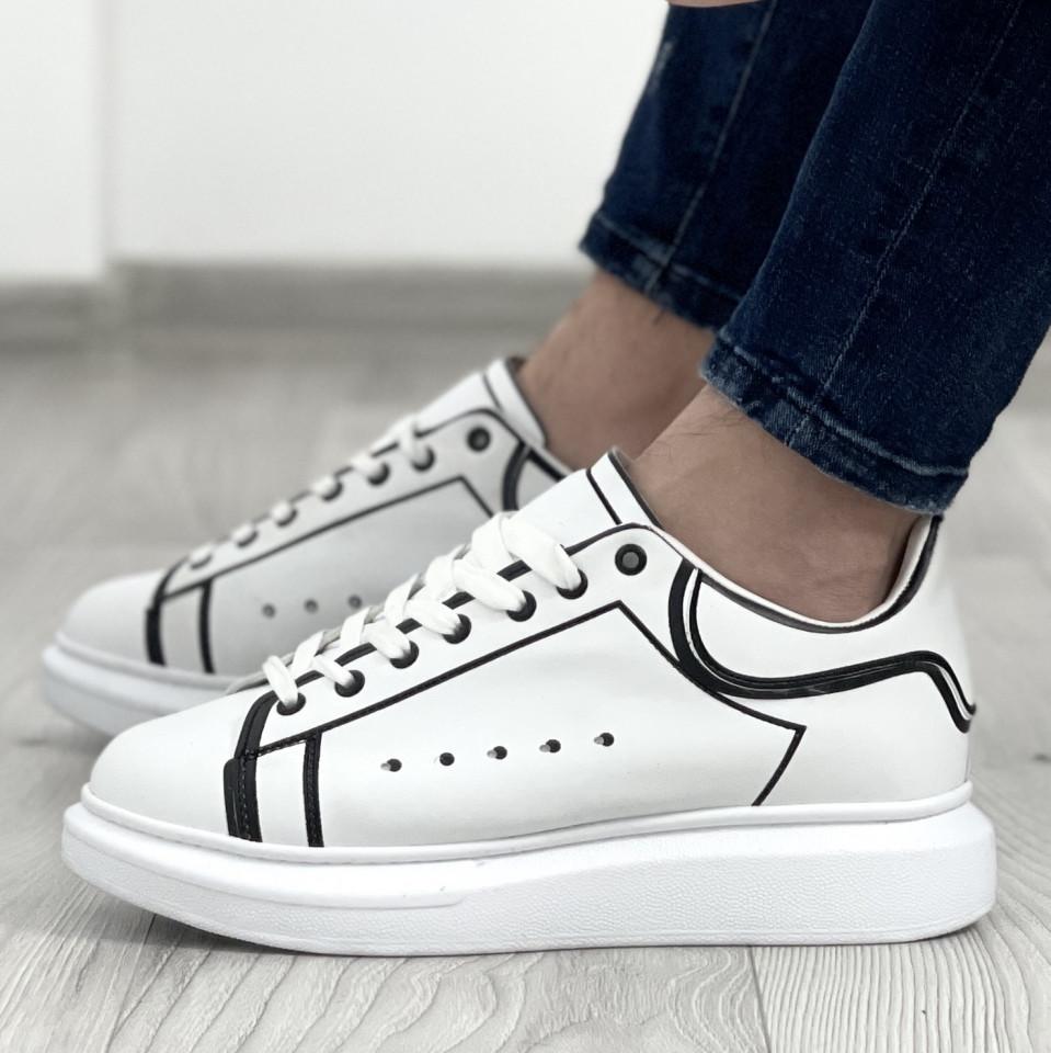 Adidas MQ Striped Alb-Negru