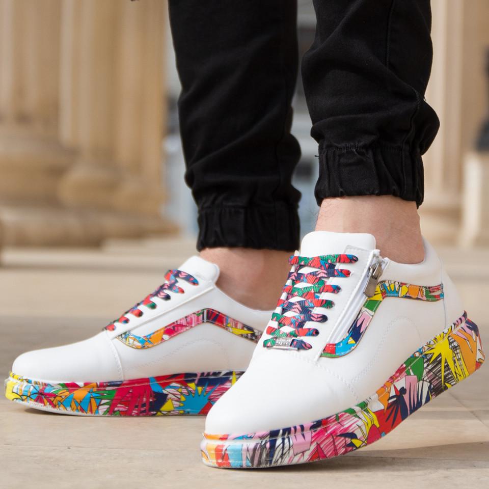 Adidasi Colors Alb-Multi Color