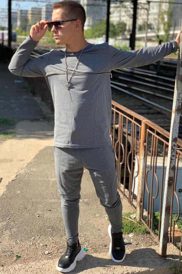 Pantaloni + Bluza Super Slim Vagabond Gri