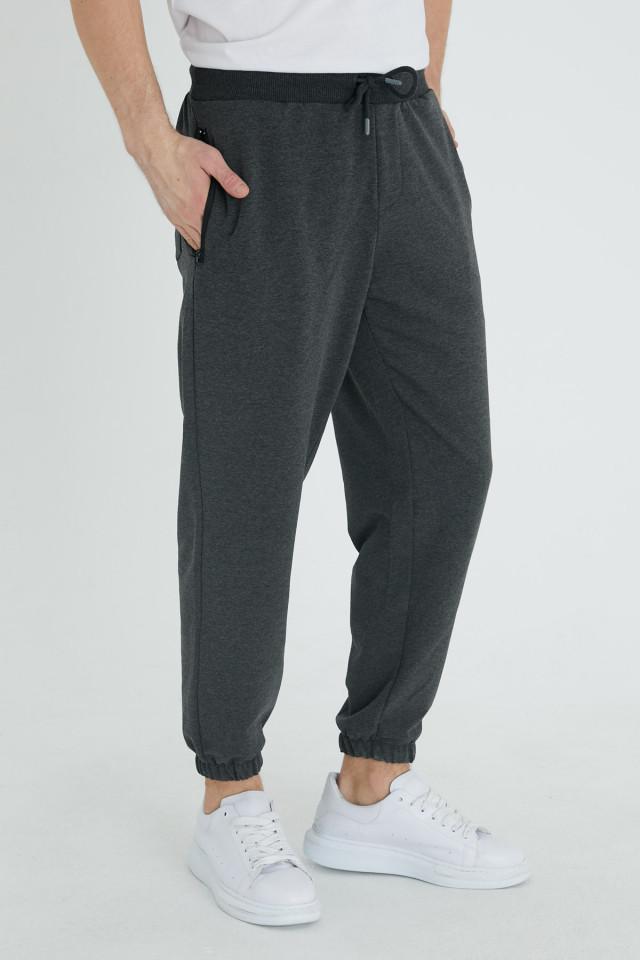 Pantaloni Bumbac Gri Inchis