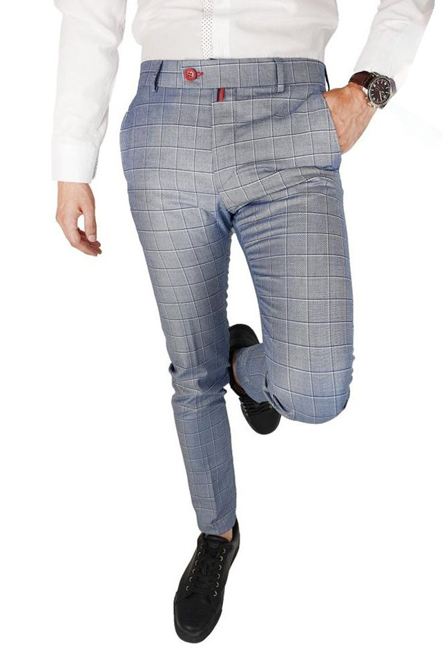 Pantaloni Smart-Casual Slim MediumGray