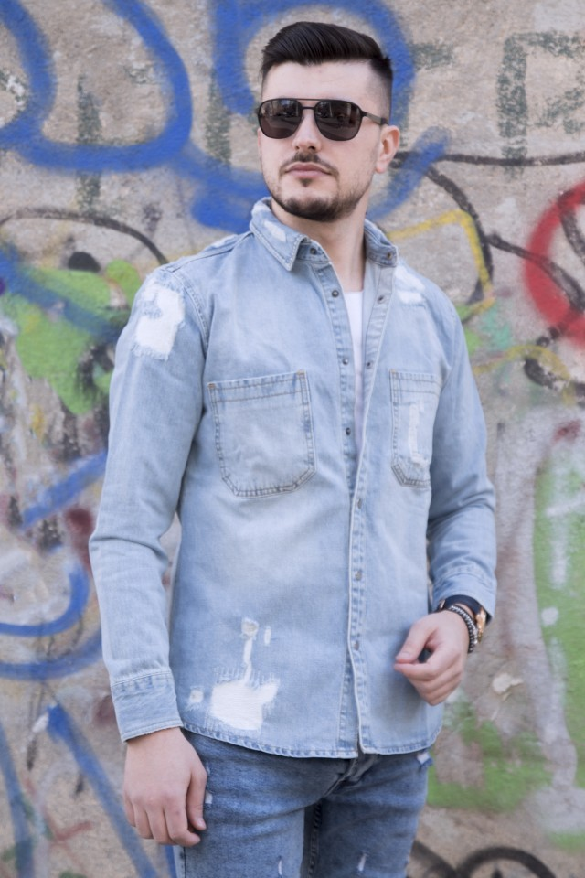 Camasa Denim Premium LightBlue