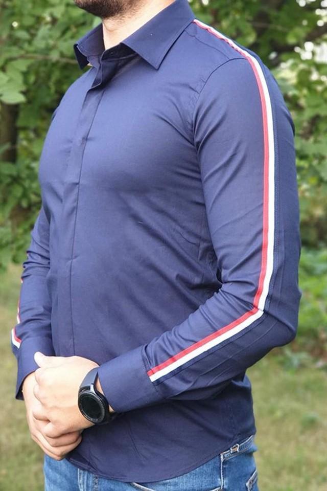 Camasa G Stripe Bleumarin