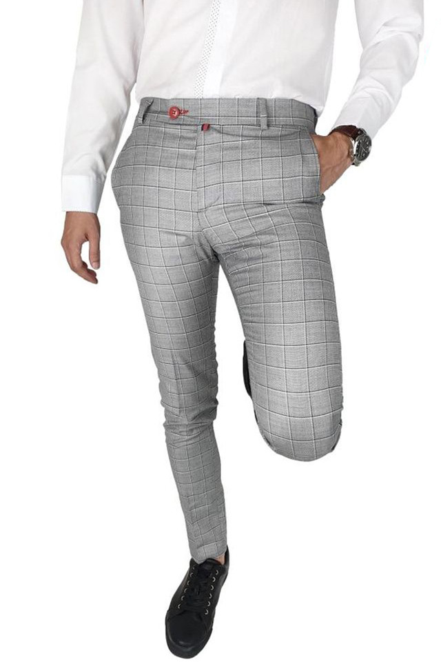 Pantaloni Smart-Casual Slim LightGrey