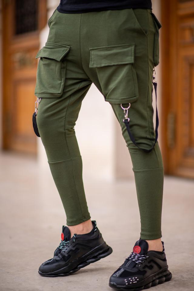 Pantaloni Exclusive cu semi-tur Kaki EP7