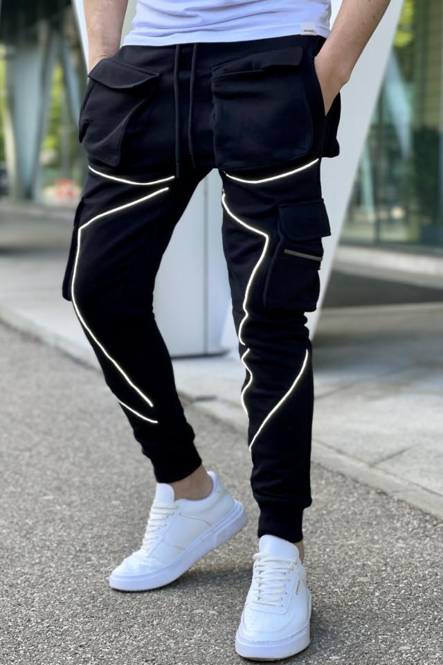 Pantaloni Reflector Negru 5218