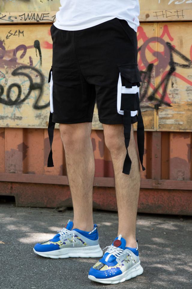 Pantaloni Scurti EX Rebel Negru-Alb