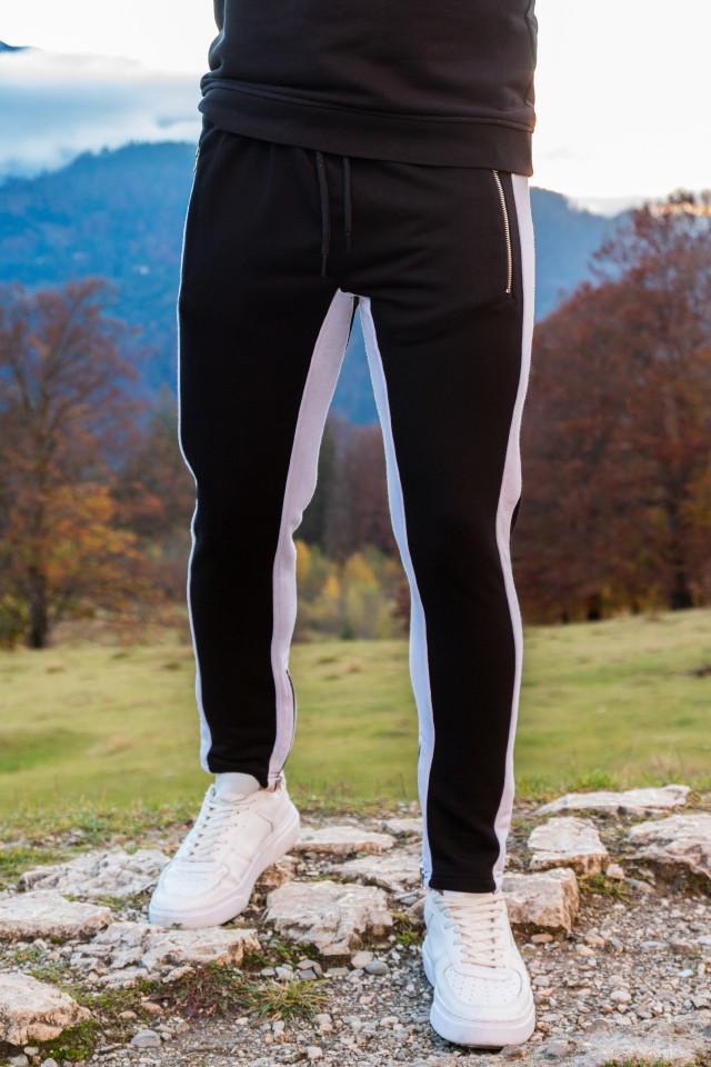 Pantaloni Zip Negru