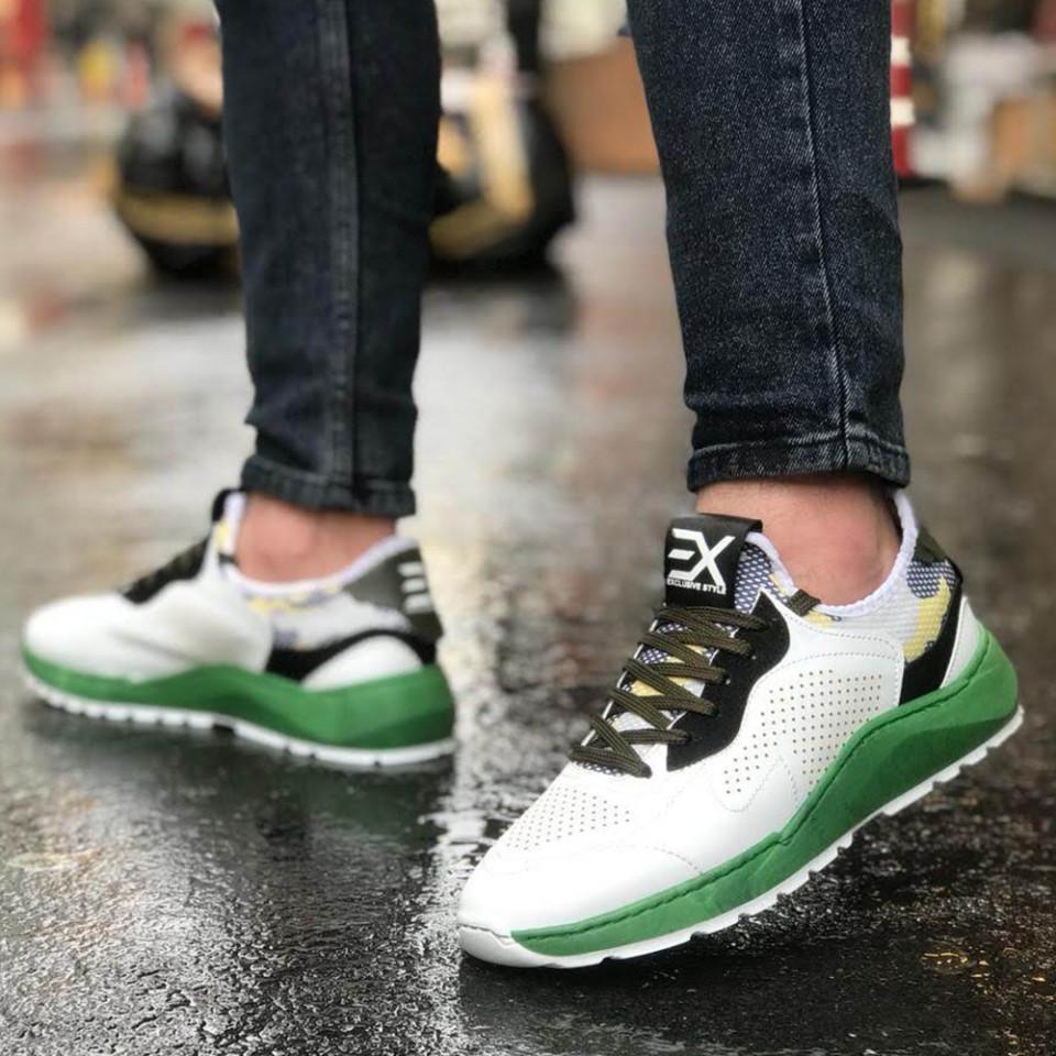 Adidasi Exclusive Alb-Verde