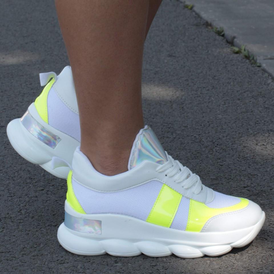 Adidasi VS Alb-Verde Neon