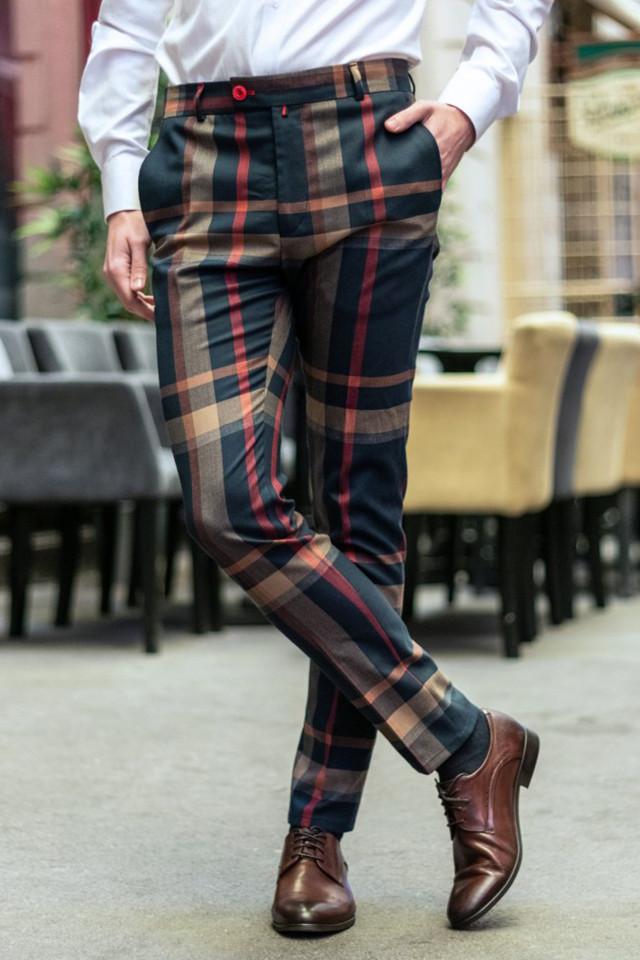 Pantaloni Eleganti Mansfield Bleumarin MIX