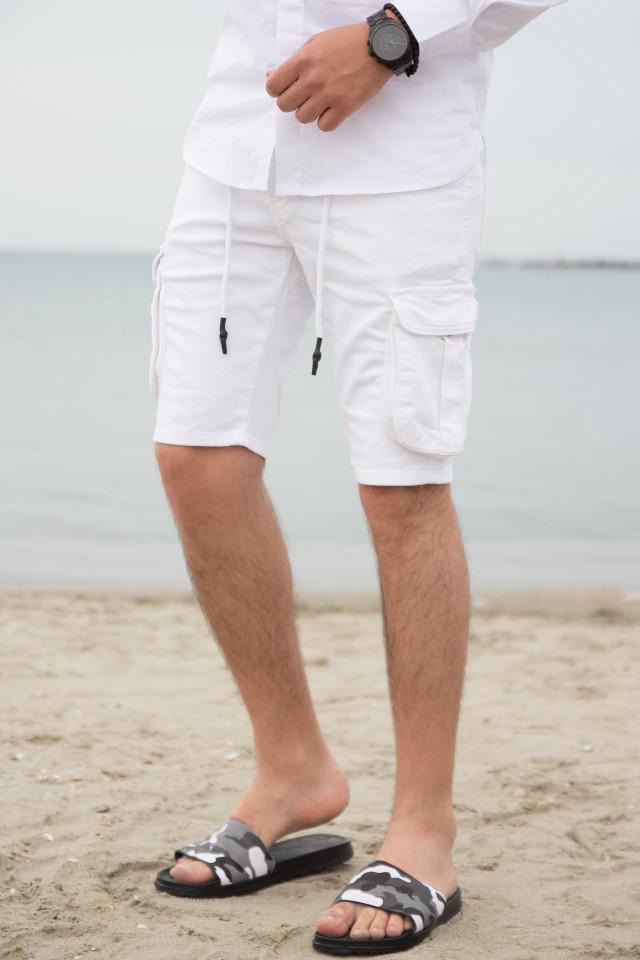 Pantaloni Scruti SMW Alb cod 3176