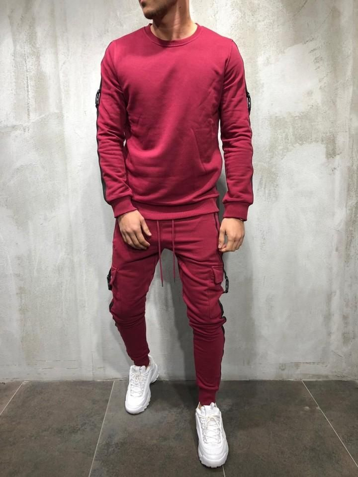 Trening Slim Fit 2Y Premium Bordo