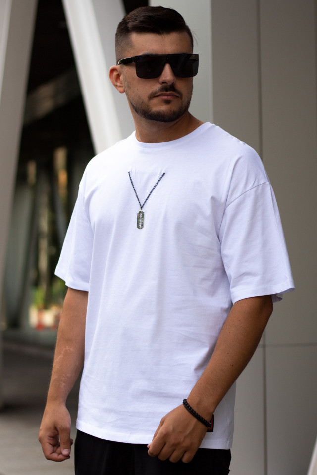 Tricou Oversized 3 Lord Alb
