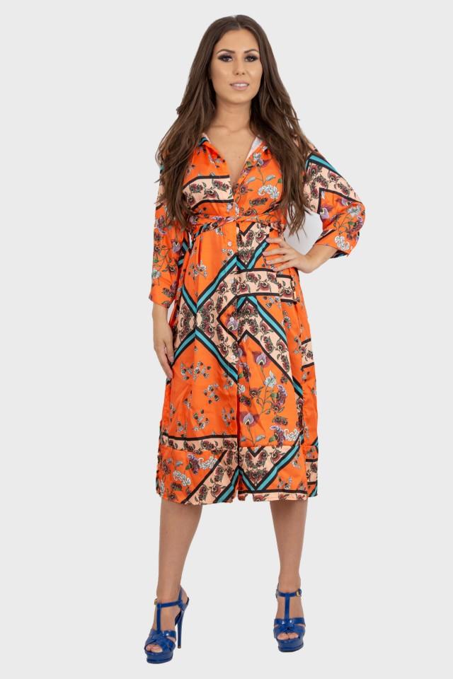 Rochie Midi Orange