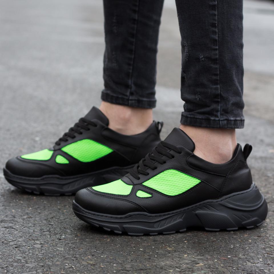 Adidasi BFT Army Negru Verde Neon