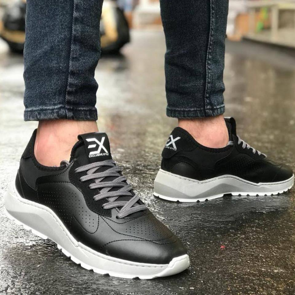 Adidasi Exclusive Negru-Gri