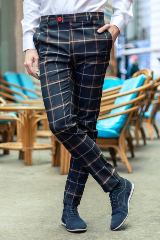Pantaloni Eleganti Mansfield Bleumarin HR
