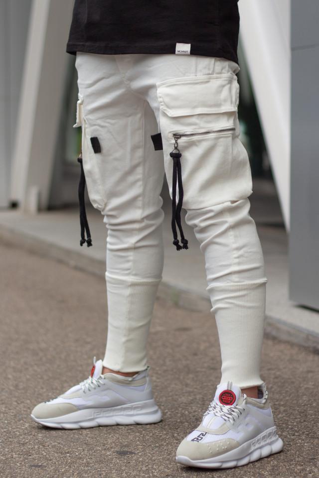 Pantaloni Pocket Rope Alb