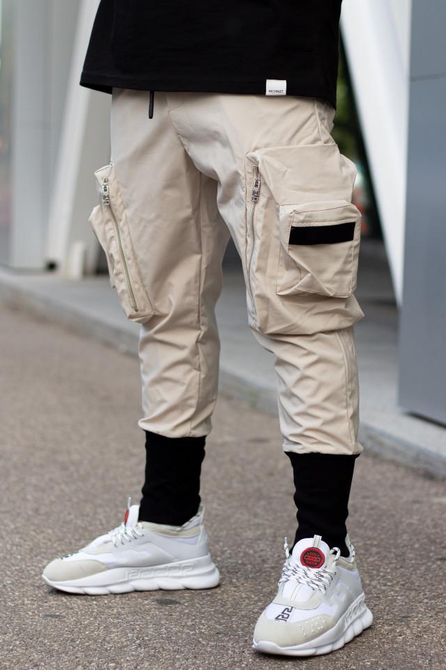 Pantaloni Wick Crem