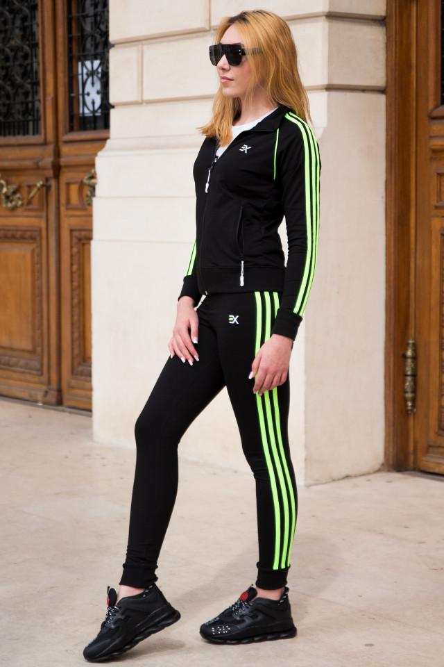 Trening EX Stripe Negru-Verde