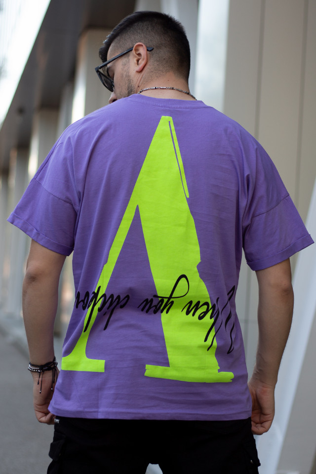 Tricou Oversized ASK y051 Violet
