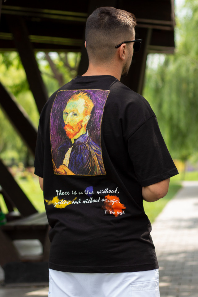 Tricou Oversized Van Gogh Negru