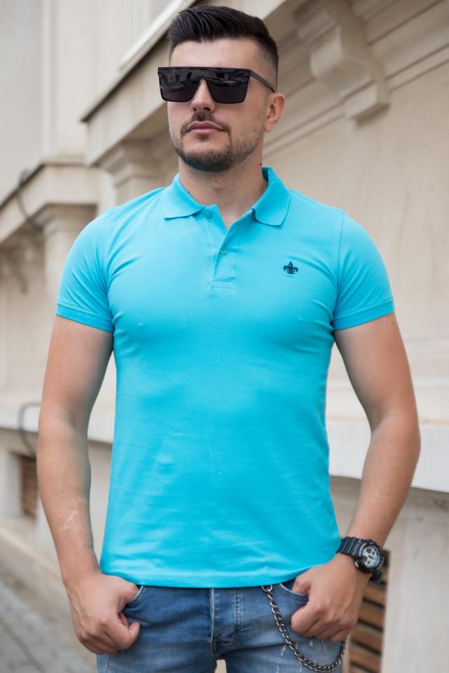 Tricou Polo Albastru-Turcoaz