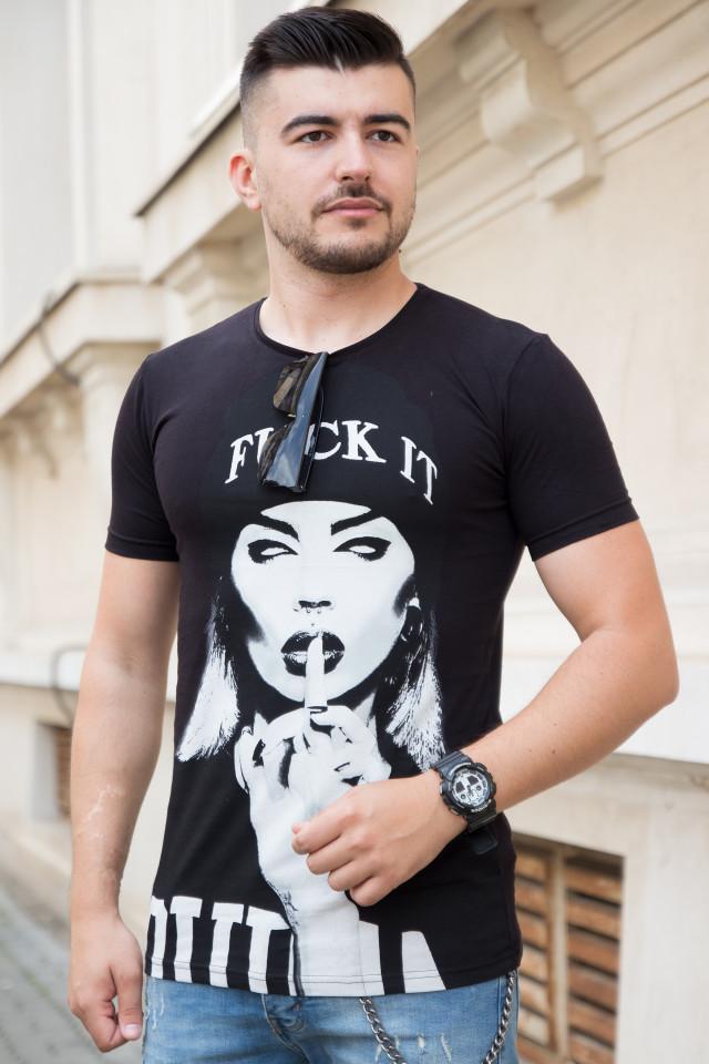 Tricou SlimFIt FK IT Negru