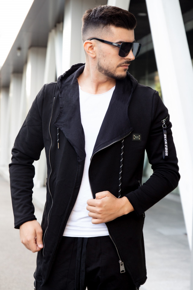 Cardigan Lung BLK