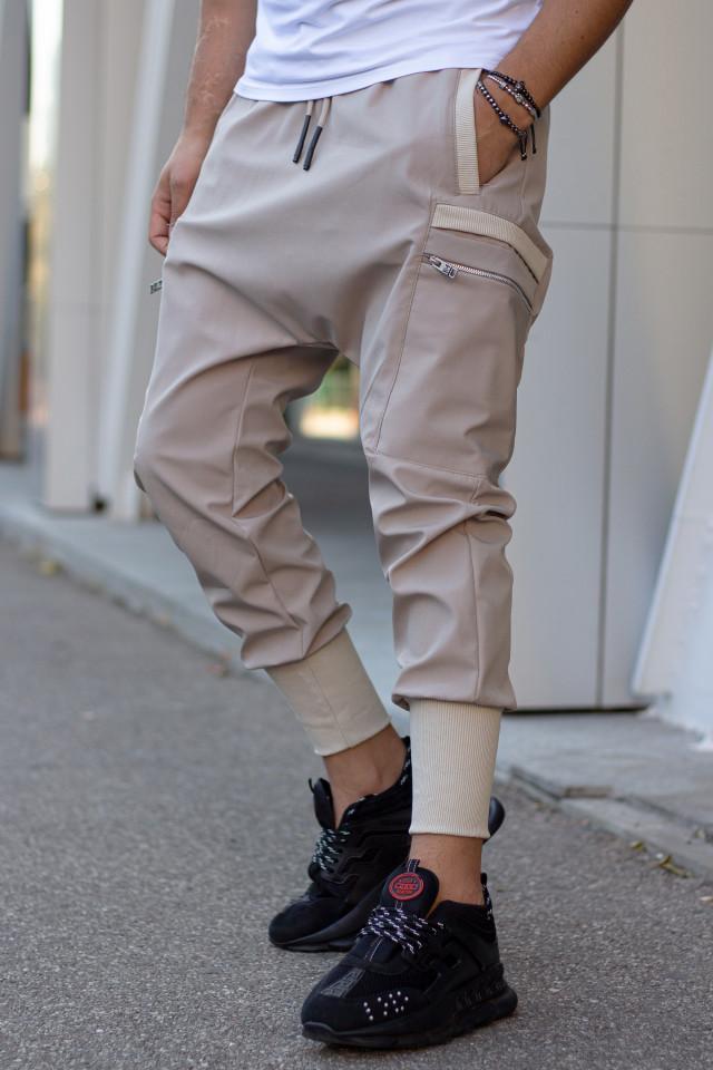 Pantaloni cu Tur Lasat k289 Bej