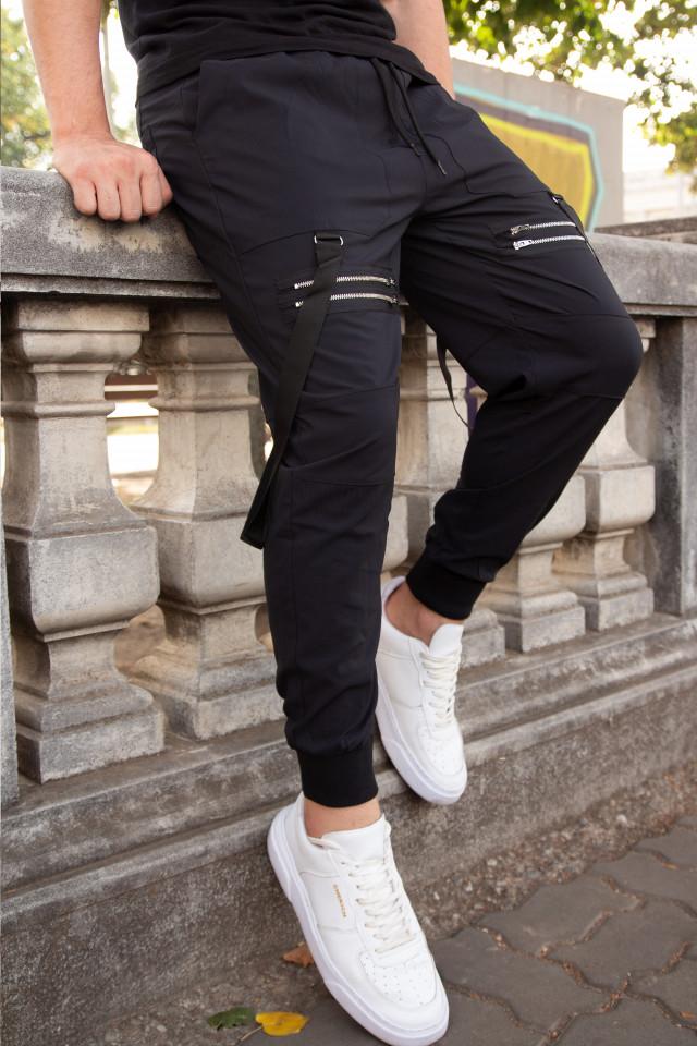 Pantaloni Double Zipp Negru 2y