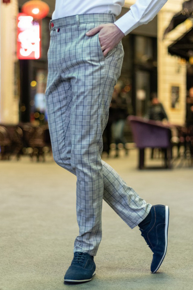 Pantaloni Eleganti Mansfield Gri BL