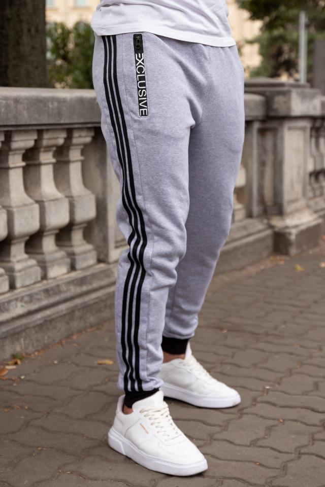 Pantaloni Grosi Bumbac Exclusive Gri